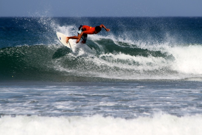 Competing Surfer